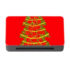 Sparkling Christmas tree - red Memory Card Reader with CF