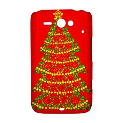 Sparkling Christmas tree - red HTC ChaCha / HTC Status Hardshell Case