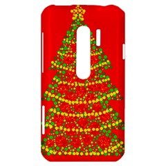 Sparkling Christmas tree - red HTC Evo 3D Hardshell Case