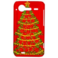 Sparkling Christmas tree - red HTC Incredible S Hardshell Case