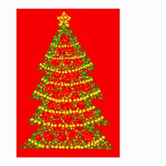 Sparkling Christmas tree - red Small Garden Flag (Two Sides)
