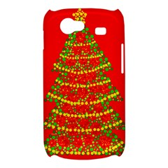 Sparkling Christmas tree - red Samsung Galaxy Nexus S i9020 Hardshell Case