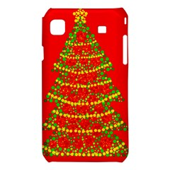 Sparkling Christmas tree - red Samsung Galaxy S i9008 Hardshell Case