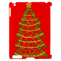 Sparkling Christmas tree - red Apple iPad 2 Hardshell Case (Compatible with Smart Cover)