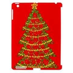 Sparkling Christmas tree - red Apple iPad 3/4 Hardshell Case (Compatible with Smart Cover)