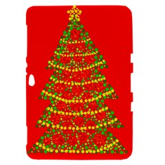 Sparkling Christmas tree - red Samsung Galaxy Tab 8.9  P7300 Hardshell Case
