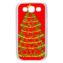 Sparkling Christmas tree - red Samsung Galaxy S III Case (White)
