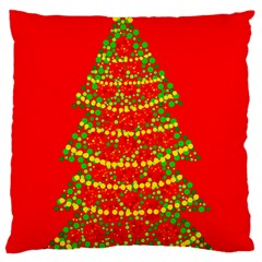 Sparkling Christmas tree - red Large Cushion Case (Two Sides)