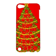 Sparkling Christmas tree - red Apple iPod Touch 5 Hardshell Case