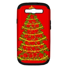 Sparkling Christmas tree - red Samsung Galaxy S III Hardshell Case (PC+Silicone)