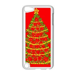Sparkling Christmas tree - red Apple iPod Touch 5 Case (White)