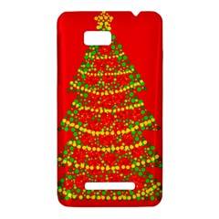 Sparkling Christmas tree - red HTC One SU T528W Hardshell Case