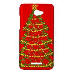 Sparkling Christmas tree - red HTC Butterfly X920E Hardshell Case