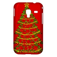 Sparkling Christmas tree - red Samsung Galaxy Ace Plus S7500 Hardshell Case