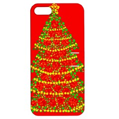 Sparkling Christmas tree - red Apple iPhone 5 Hardshell Case with Stand