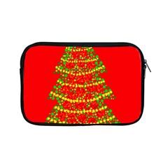 Sparkling Christmas tree - red Apple iPad Mini Zipper Cases