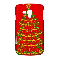 Sparkling Christmas tree - red Samsung Galaxy Duos I8262 Hardshell Case