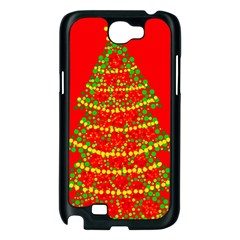 Sparkling Christmas tree - red Samsung Galaxy Note 2 Case (Black)