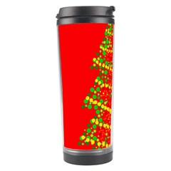 Sparkling Christmas tree - red Travel Tumbler