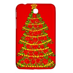 Sparkling Christmas tree - red Samsung Galaxy Tab 3 (7 ) P3200 Hardshell Case