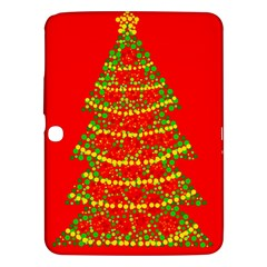Sparkling Christmas tree - red Samsung Galaxy Tab 3 (10.1 ) P5200 Hardshell Case