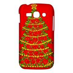 Sparkling Christmas tree - red Samsung Galaxy Ace 3 S7272 Hardshell Case