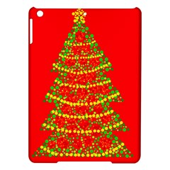 Sparkling Christmas tree - red iPad Air Hardshell Cases