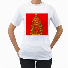 Sparkling Christmas tree - red Women s T-Shirt (White)