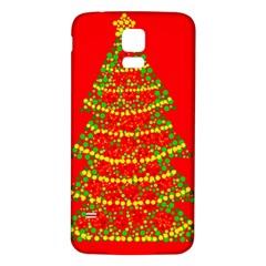 Sparkling Christmas tree - red Samsung Galaxy S5 Back Case (White)
