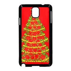 Sparkling Christmas tree - red Samsung Galaxy Note 3 Neo Hardshell Case (Black)
