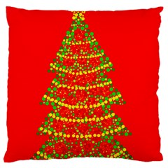 Sparkling Christmas tree - red Standard Flano Cushion Case (One Side)