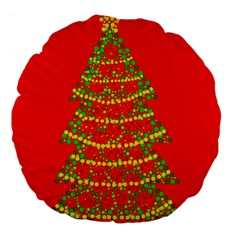 Sparkling Christmas tree - red Large 18  Premium Flano Round Cushions