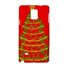 Sparkling Christmas tree - red Samsung Galaxy Note 4 Hardshell Case