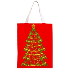 Sparkling Christmas tree - red Classic Light Tote Bag