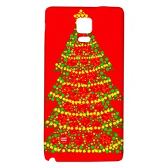 Sparkling Christmas tree - red Galaxy Note 4 Back Case