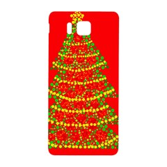 Sparkling Christmas tree - red Samsung Galaxy Alpha Hardshell Back Case