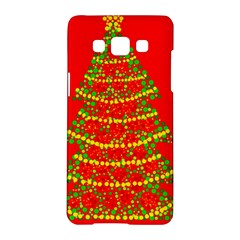 Sparkling Christmas tree - red Samsung Galaxy A5 Hardshell Case