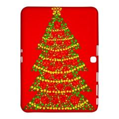 Sparkling Christmas tree - red Samsung Galaxy Tab 4 (10.1 ) Hardshell Case