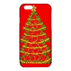 Sparkling Christmas tree - red iPhone 6/6S TPU Case