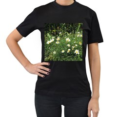 Wild Daisy Summer Flowers Women s T Shirt (black) (two Sided)