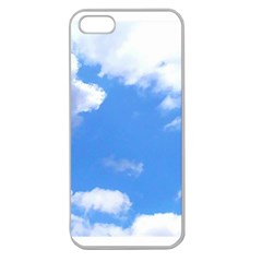 Summer Clouds And Blue Sky Apple Seamless Iphone 5 Case (clear)