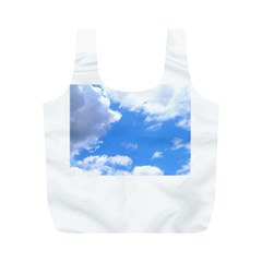 Summer Clouds And Blue Sky Full Print Recycle Bags (m)
