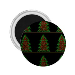 Christmas trees pattern 2.25  Magnets