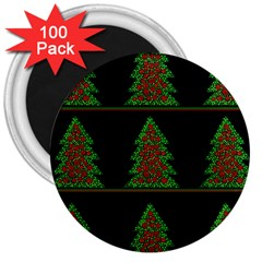 Christmas trees pattern 3  Magnets (100 pack)
