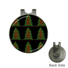 Christmas trees pattern Hat Clips with Golf Markers