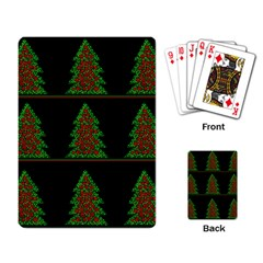 Christmas trees pattern Playing Card