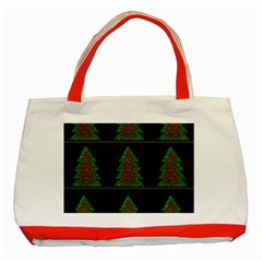 Christmas trees pattern Classic Tote Bag (Red)