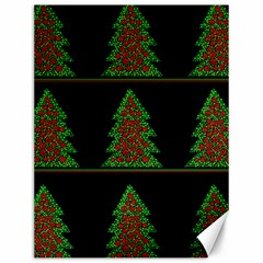 Christmas trees pattern Canvas 12  x 16
