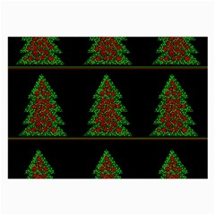 Christmas trees pattern Large Glasses Cloth (2-Side)