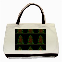 Christmas trees pattern Basic Tote Bag (Two Sides)